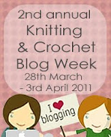 Pink Banner for Knitting and Crochet Blog Week