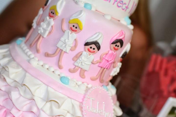 Perfect 10 spa theme birthday cake ella vanilla for Salon cake design