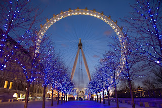 London Eye night time view