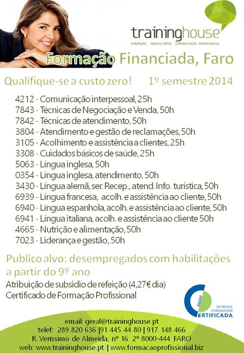 formação financiada Faro 2014