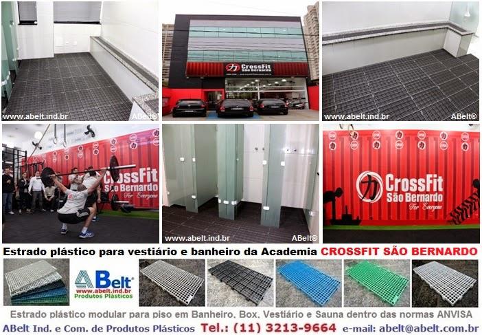 CrossFit piso e estrado plastico para banheiro, chuveiro, box e vestiário