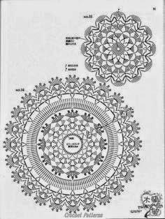 gráfico tampas de crochê