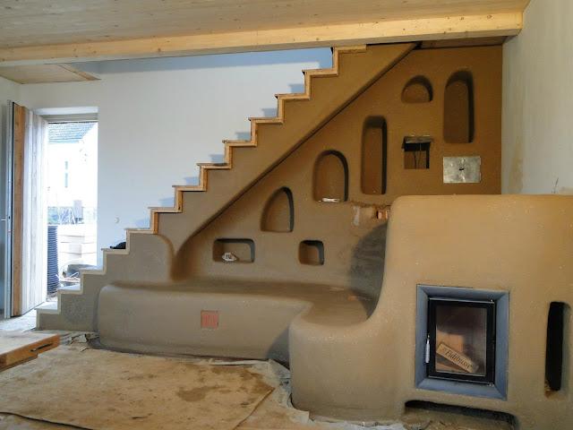 Вид спереди. печь дровяная. дизайн