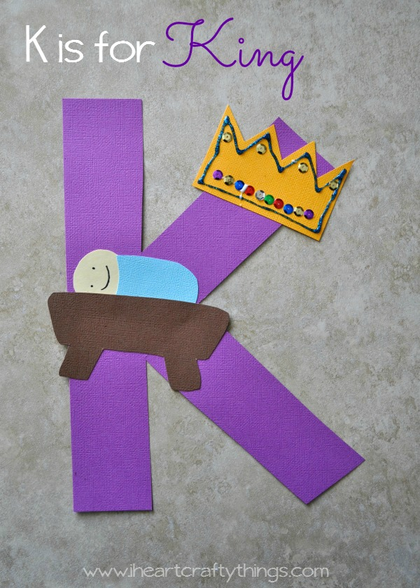 I heart crafty things k is for king alphabet craft for Letter k crafts for toddlers