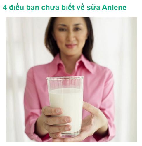Bốn điều bạn chưa biết về sữa canxi Anlene
