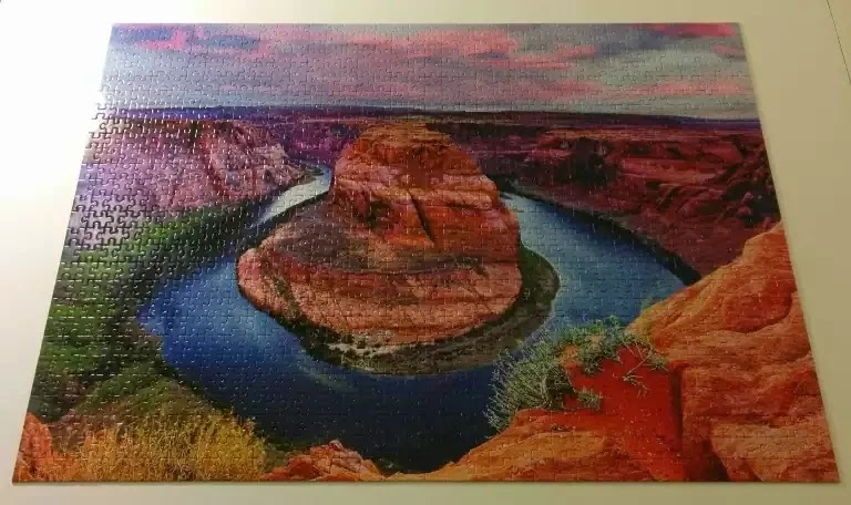 Horseshoe Bend of the Southwest 1000 piece jigsaw puzzle by Mega Puzzles
