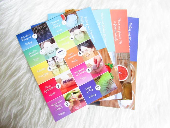 Demakup Detox Challenge - DIY Beauty Rezept Karten