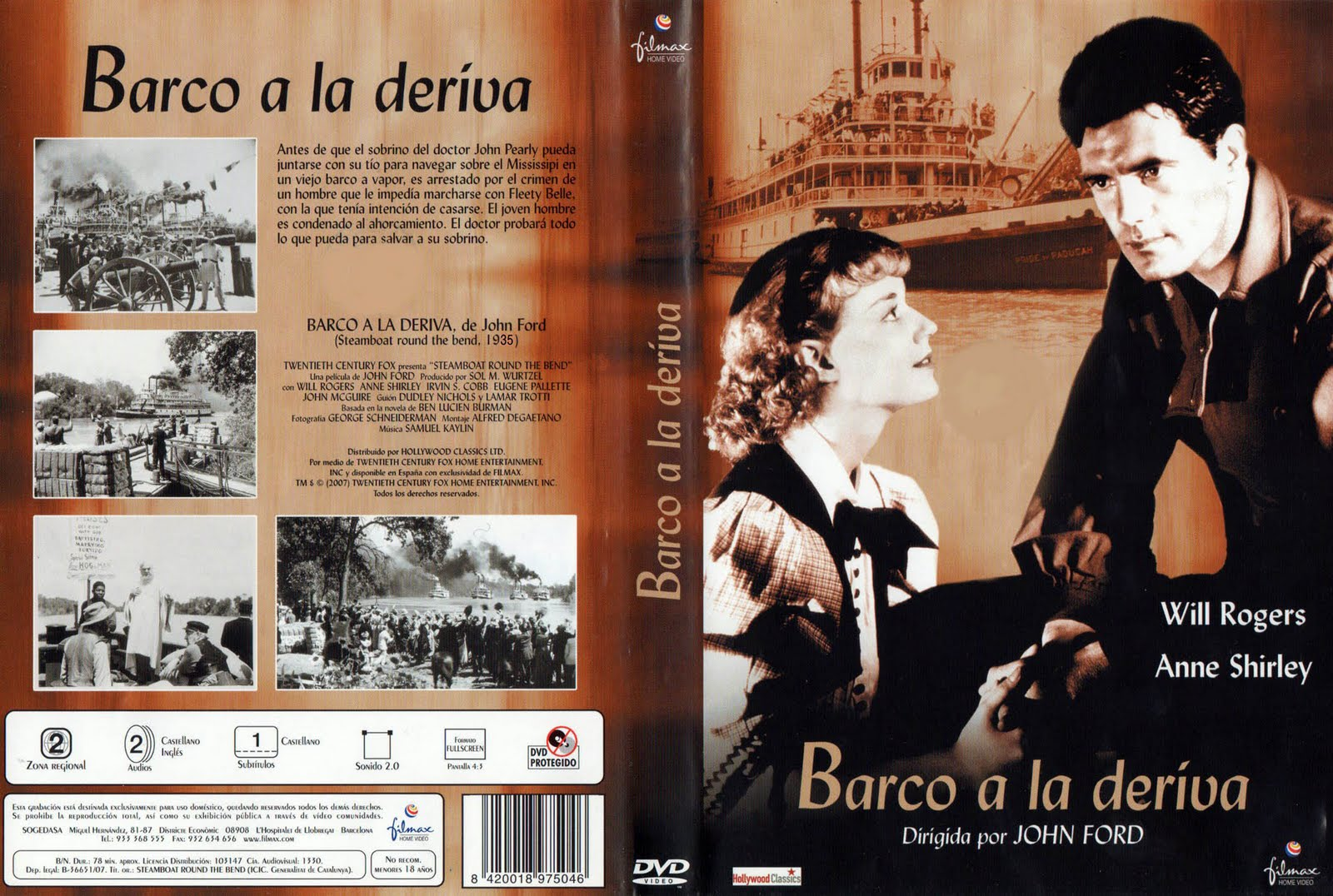 Barco a la deriva (Steamboat Round the Bend – 1935) - Caratula