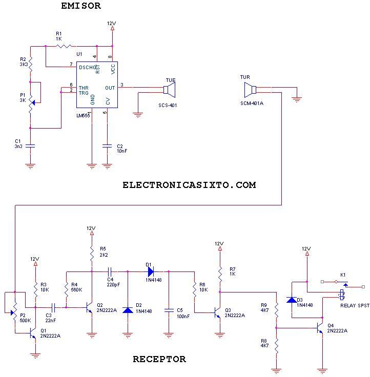 Circuito Emisor Receptor : Electronica sixto circuito emisor receptor por ultra sonido