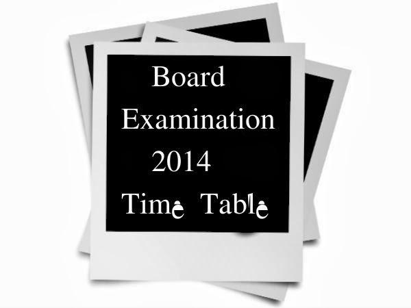 Maharashtra Board SSC (10th) Time Table 2014