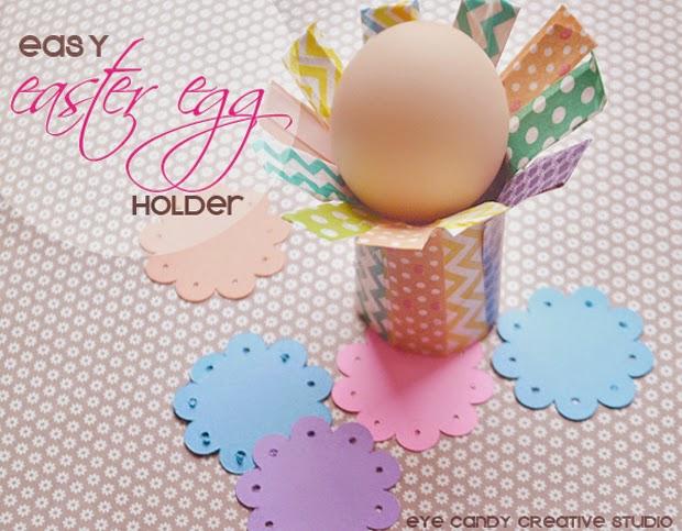 easy easter egg holder, kid craft, recycling craft, egg holder idea