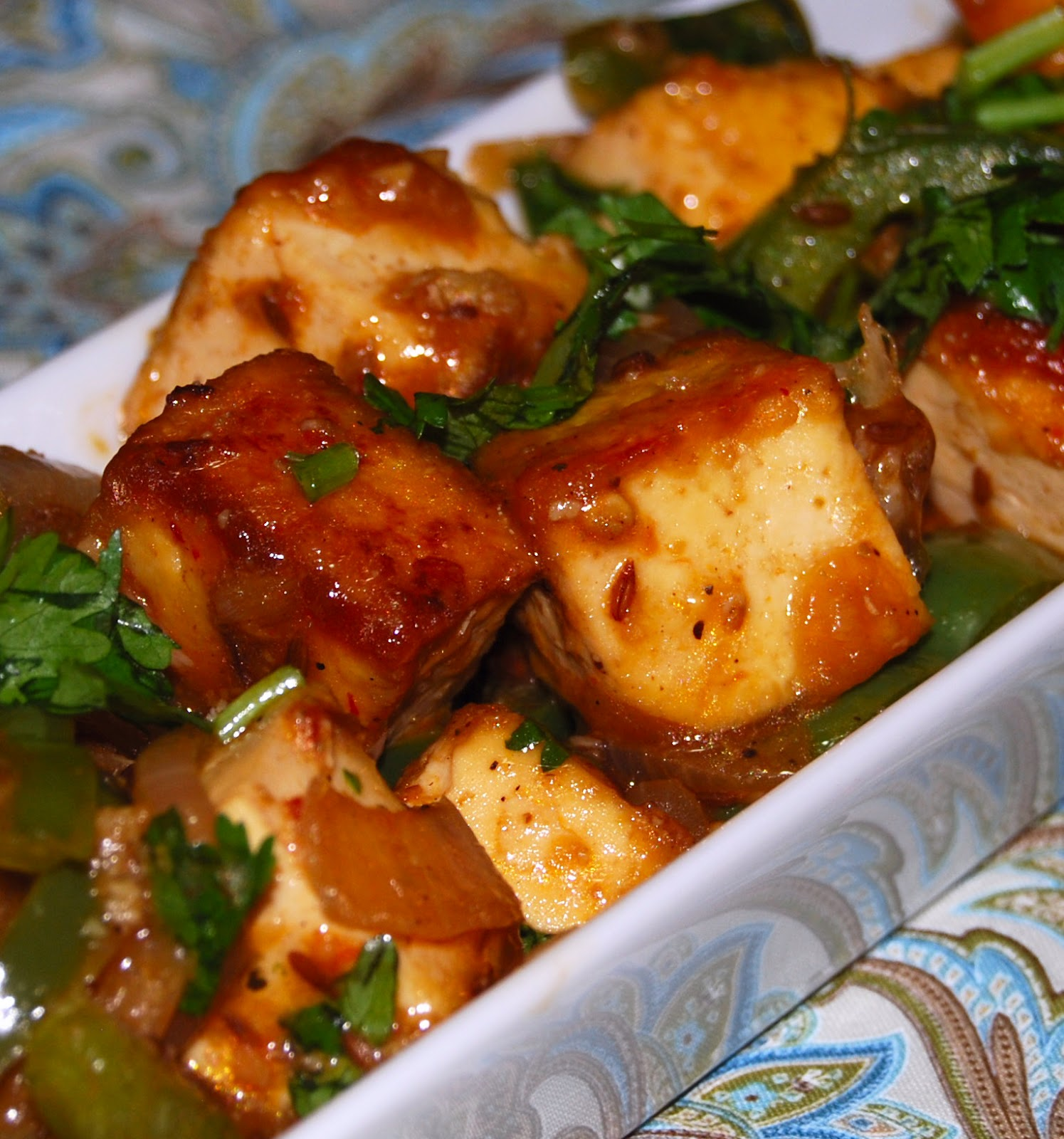 Chilli Tofu - Holy Cow! Vegan Recipes