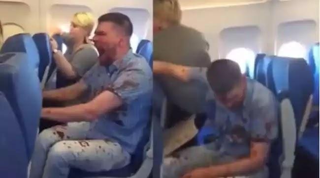 Τρόμος σε πτήση: Ούρλιαζε επιβάτης καλυμμένος στα αίματα