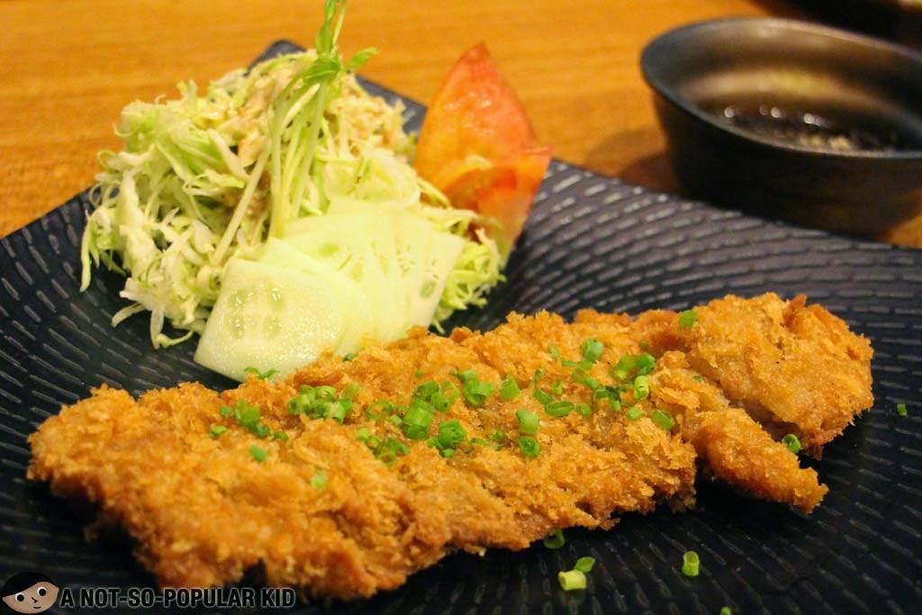 Pork Tonkatsu in Yumi Restaurant in Greenhills Promenade