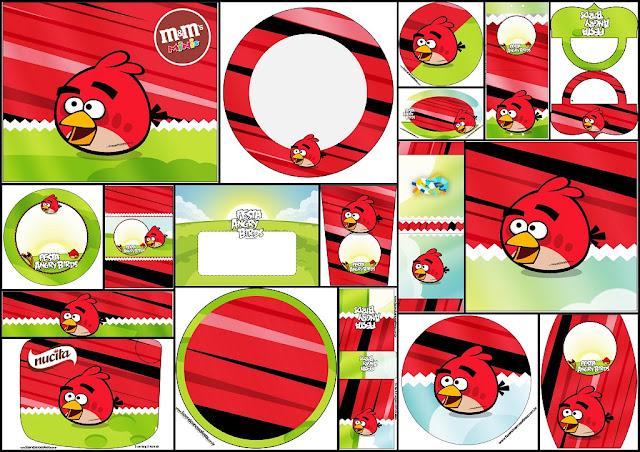 Angry Birds: Etiquetas Candy Bar para Imprimir Gratis.