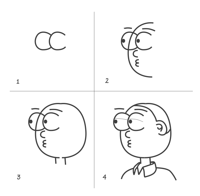 how to draw funny faces step by step easy