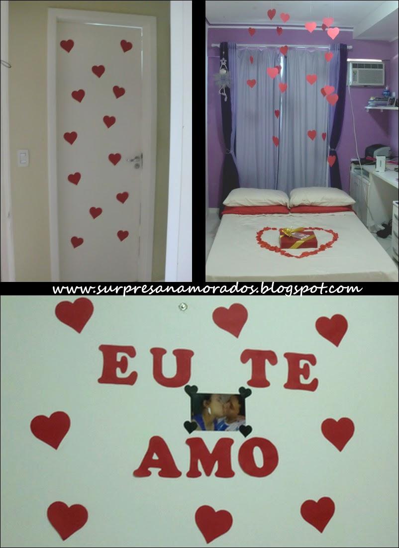 Dia dos Namorados Surpresa no Quarto Surpresas para  ~ Quarto Romantico Para Namorado