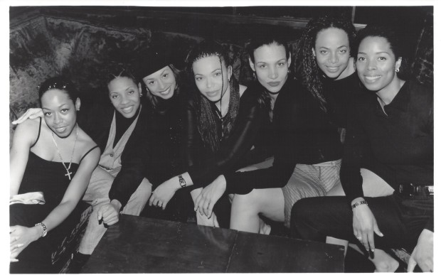 Wrap party for 'A Luv Tale' 1999, (left to right) Tichina ...