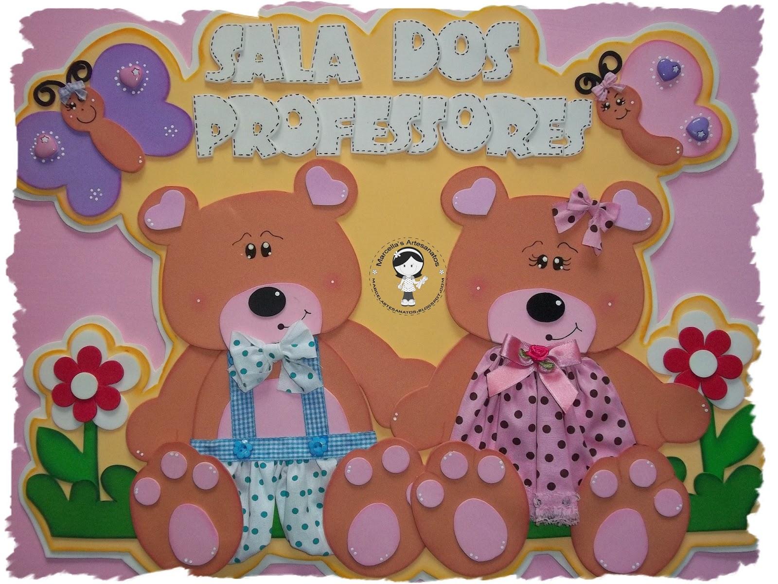 Decoracao Sala Dos Professores ~ Crachás de ursinhos e ursinhas