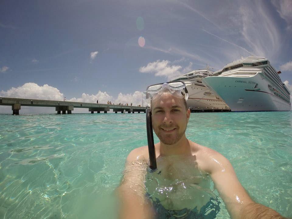 Joe Somebody Snorkeling in Grand Turk