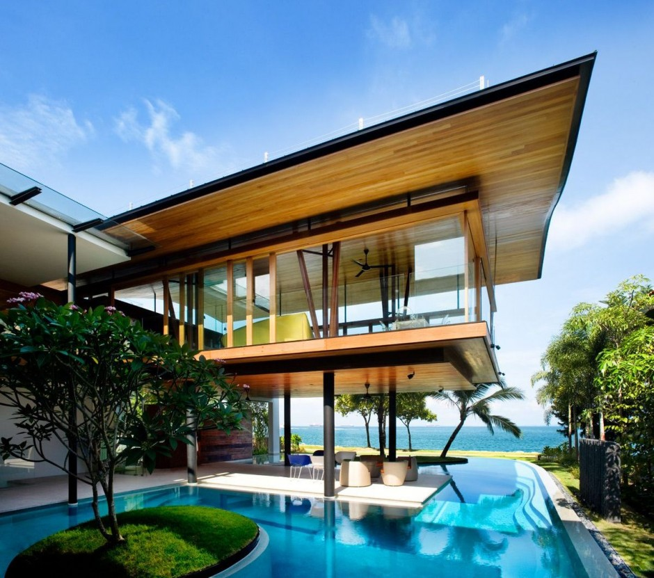 Modern luxury tropical house most beautiful houses in the Modern beach house plans