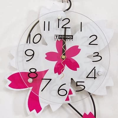 Reloj de Pared con Flores