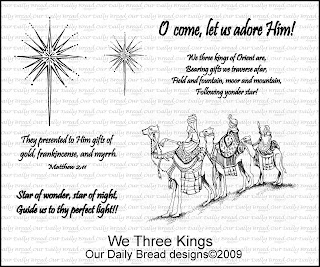 "Our Daily Bread designs ""We Three Kings"""