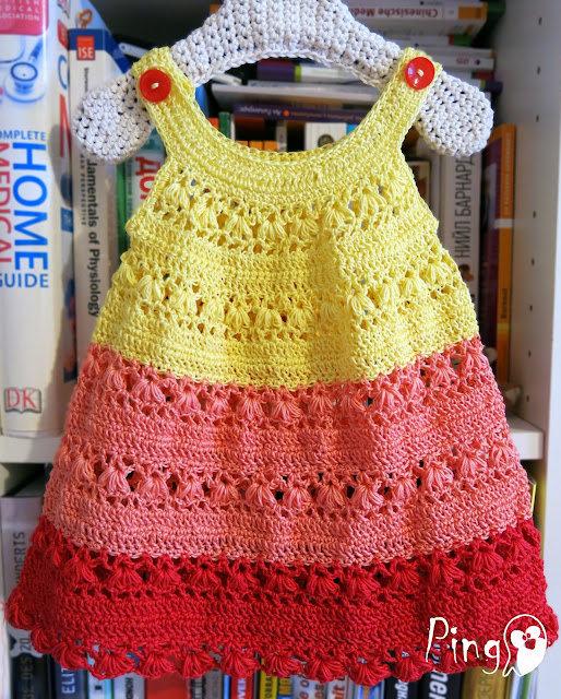 Crochet Summer Dress - crochet pattern by Pingo - The Pink Pengiun