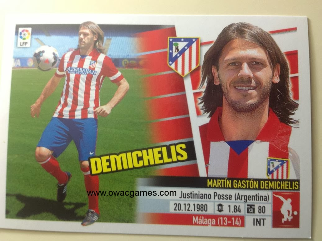 Liga ESTE 2013-14 Atl. de Madrid - Últimos Fichajes 12 - Demichelis