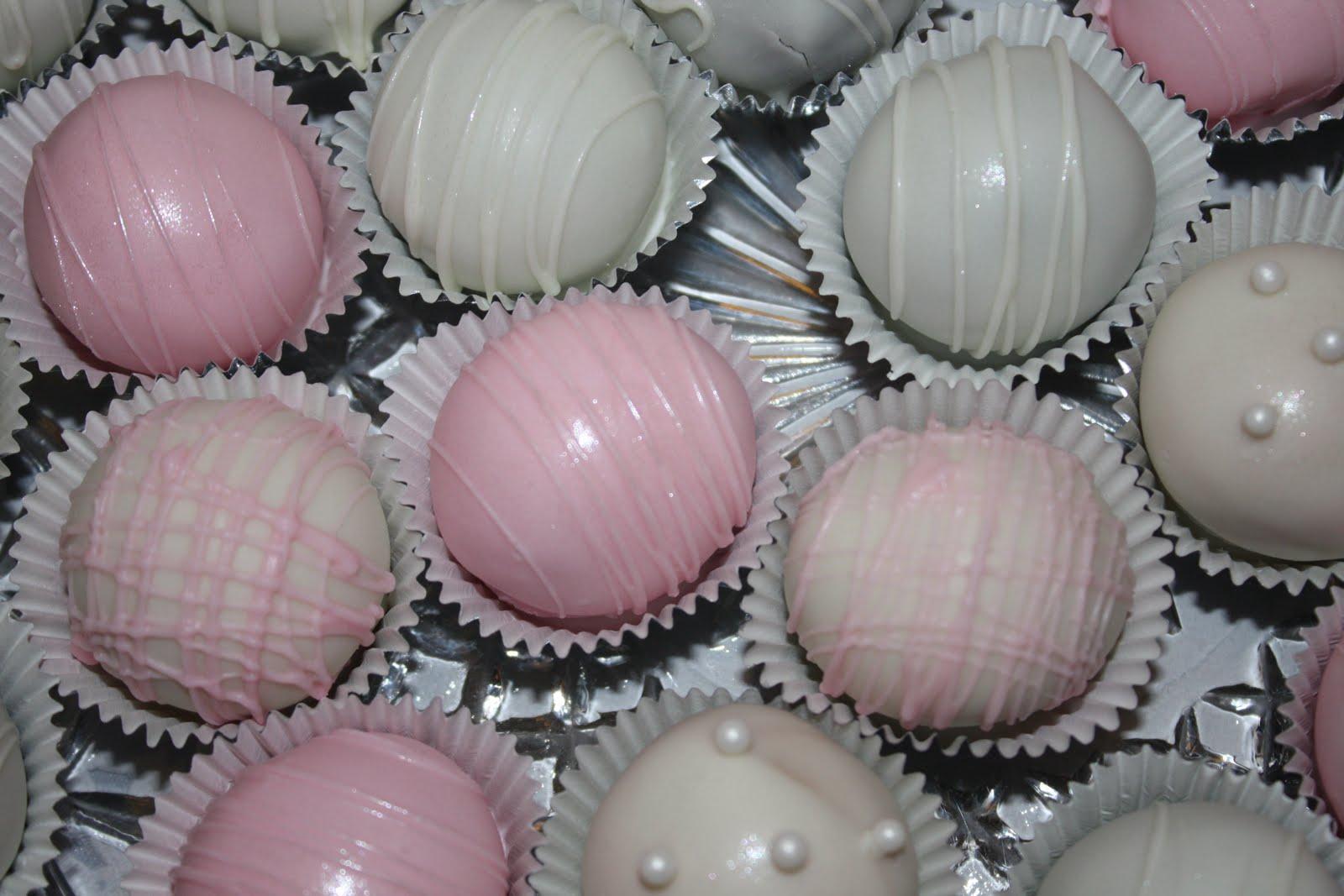 wedding shower cake balls