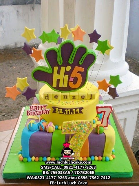 Kue Tart Tema Hi-5 Daerah Surabaya - Sidoarjo