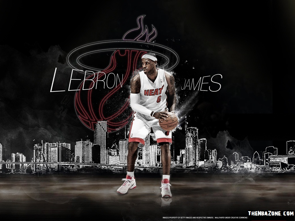 Lebron James Miami Heat NBA Playoffs 2012 HD Wallpaper