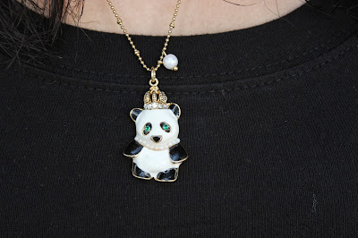 Panda Betsey Johnson Necklace