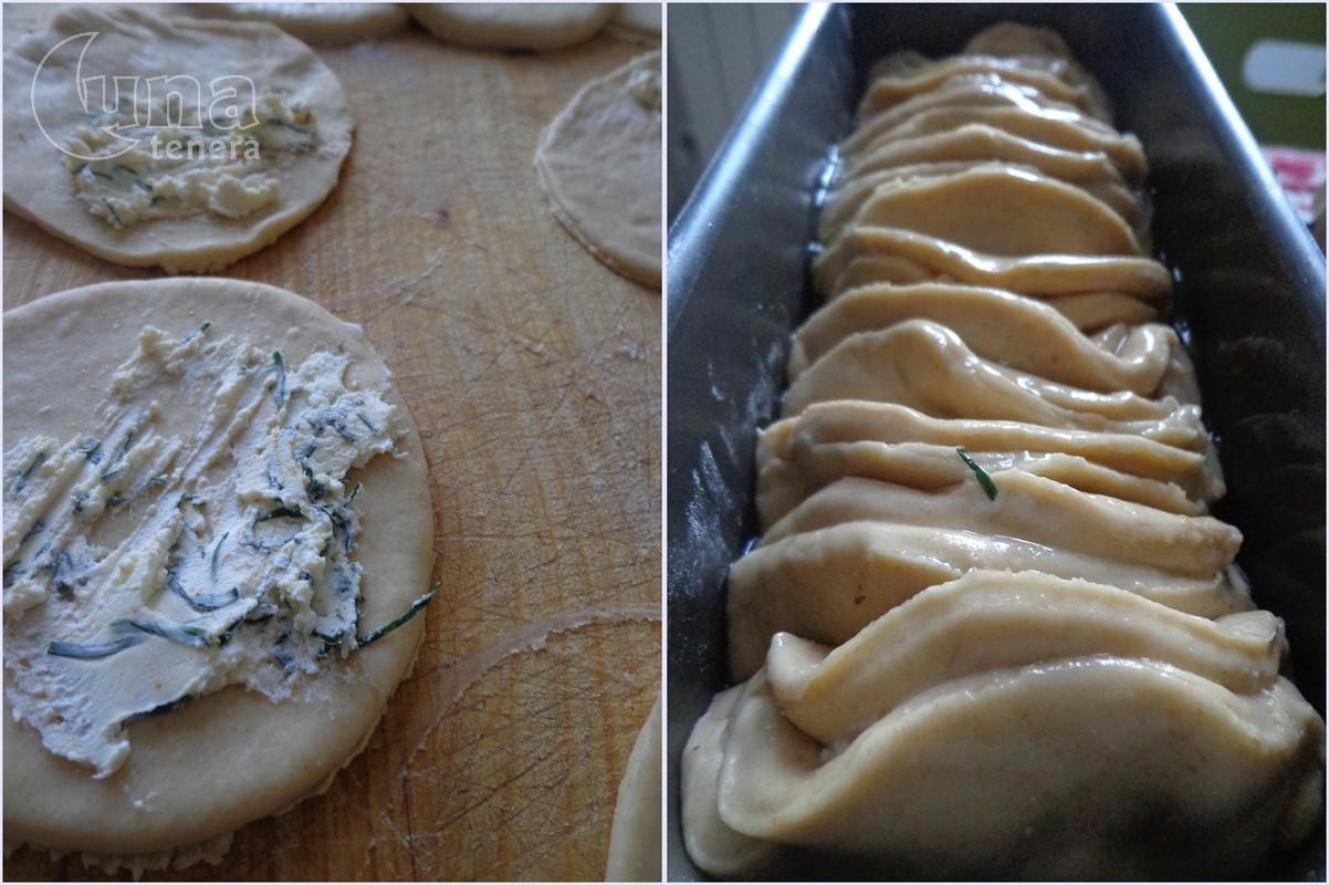 pane millefoglie all'erba cipollina e formaggio
