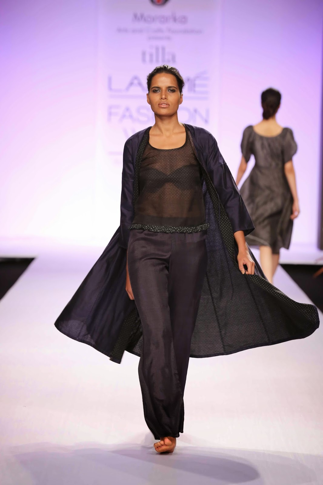 Aaratrik Dev Varman's 'Tilla' label had style and comfort as the basis of the collection and its understated luxury will appeal to women who want to make the maximum impact with minimum effort.