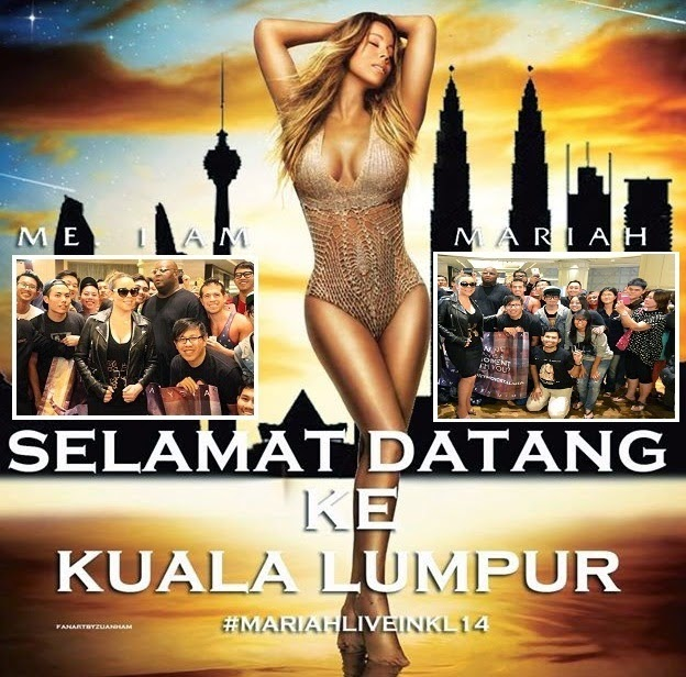 6 Gambar Mariah Carey di KL berhabis RM65 000 shopping di Bukit Bintang