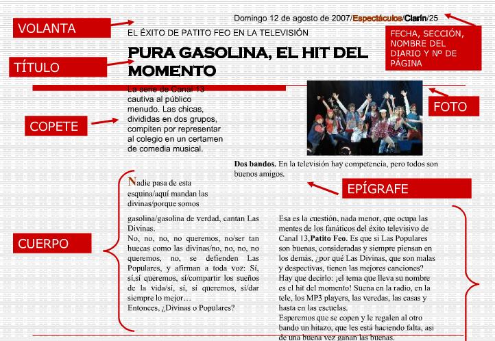 El Rincón de Helguera - Capacitación: La noticia y sus partes