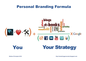 Il personal branding in sintesi