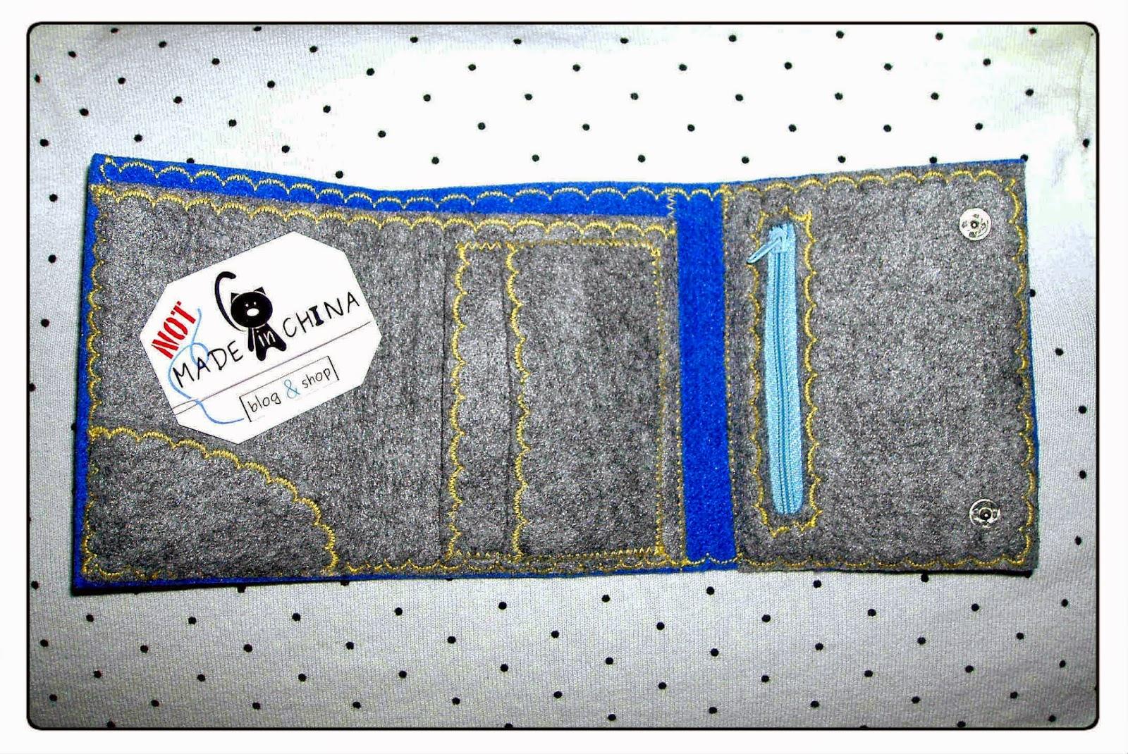 oryginalny portfel z filcu