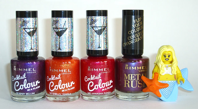 Rimmel - Baby Bellini, Shirley Temple, Hawaiian Punch, Purple Reign