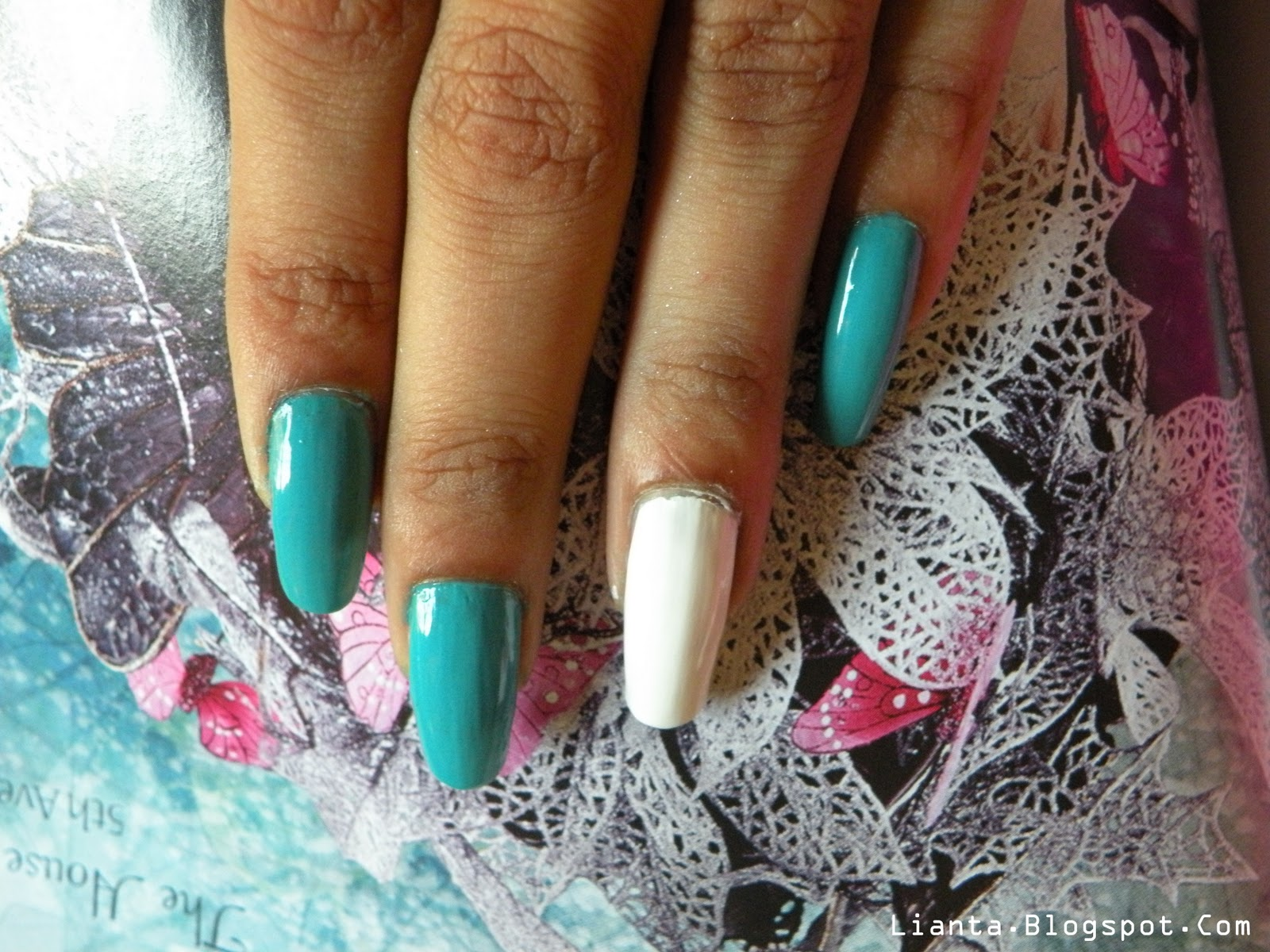 My Experiments With Nail Art Angel From The Skies Nail Tutorial
