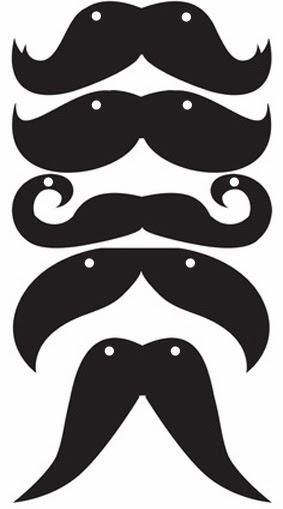 Plantillas bigote acetato