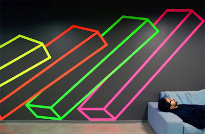 Facebook Commissioned Street Artist for Tape Art Installation in New York Office Seen On www.coolpicturegallery.us