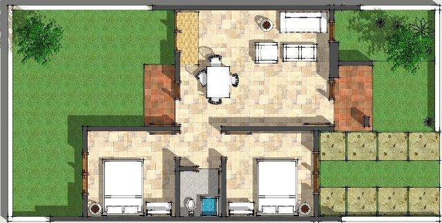 30 macam denah rumah type 45 rancangan rumah dan tata ruang