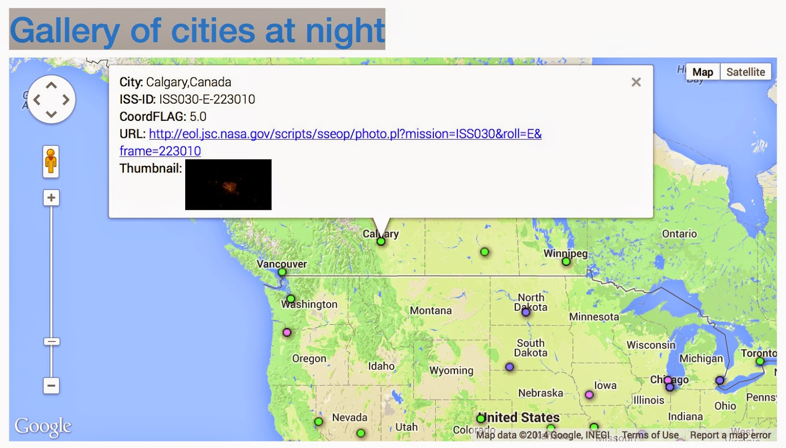 Loss of the Night citizen science project How to find pictures of