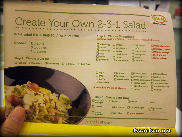 Create your own Salad at The Salad Bar