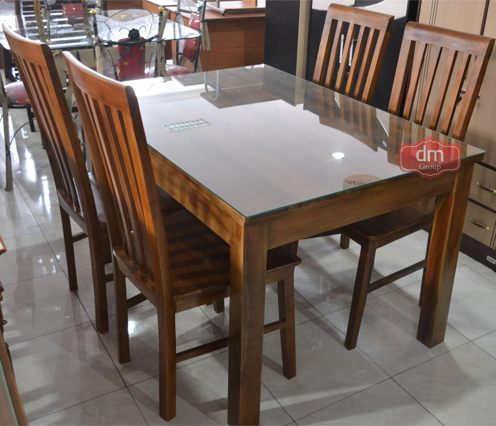 Meja Makan Jati Rp 3 250 000 DM MEBEL JOGJA Pusatnya