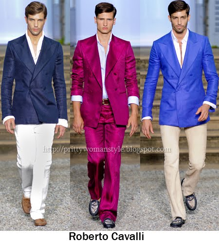 Roberto Cavalli мъжки костюми 2012