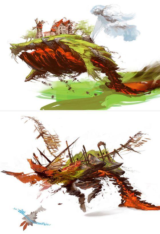 Veronique Meignaud ilustrações arte conceitual mundos de fantasia