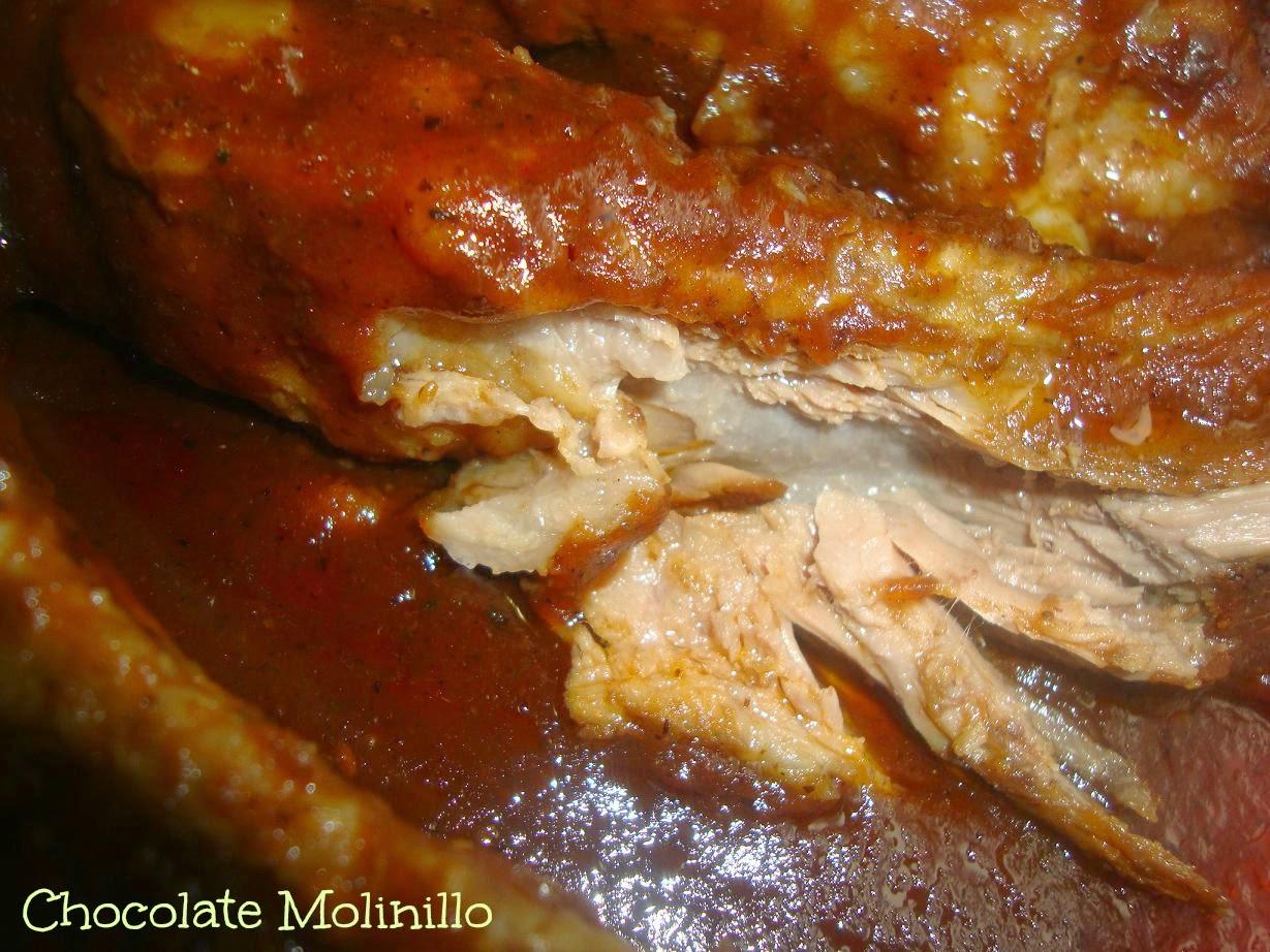 Costillitas a la Barbecue con salsa de arándanos
